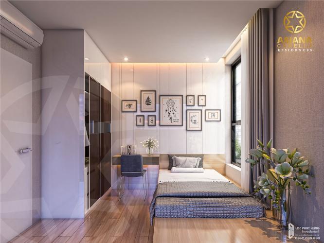 Phòng ngủ căn hộ Asiana Capella, Quận 6 Căn hộ Asiana Capella hướng cửa chính Tây Bắc, nội thất cơ bản.