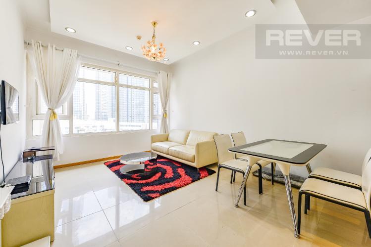 Phòng khách Căn hộ Saigon Pearl 2 phòng ngủ tầng thấp Topaz 2 nội thất đầy đủ