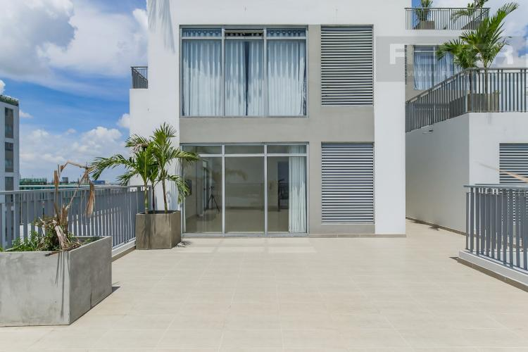 Balcony Bán hoặc cho thuê căn hộ sân vườn Lux Garden 3PN, đầy đủ nội thất, view 2 mặt sông