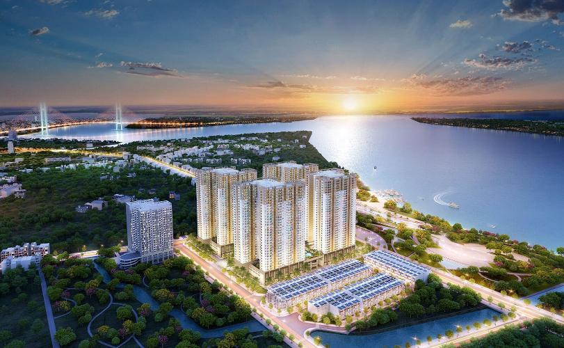 Toàn cảnh dự án Q7 Saigon Riverside Bán căn hộ tầng trung Q7 Saigon Riverside, view hồ bơi nội khu thoáng mát, thiết kế hiện đại.