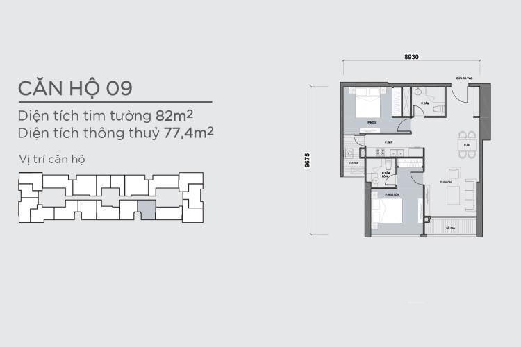 Căn hộ 2 phòng ngủ Officetel Vinhomes Central Park 2 phòng ngủ tầng cao Park 7