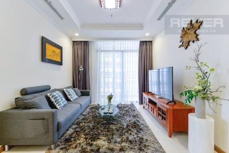 Bán căn hộ Vinhomes Central Park 2PN, đầy đủ nội thất, ban công Đông Nam, view đường Nguyễn Hữu Cảnh