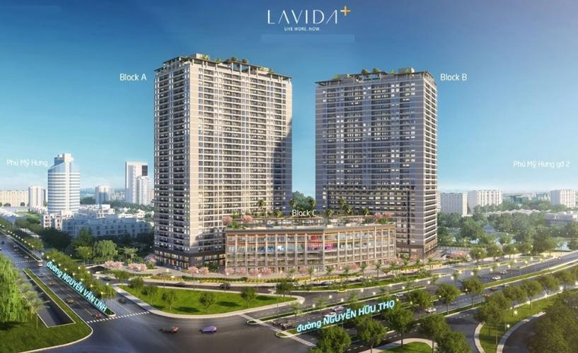 Bán Office-tel Lavida Plus Q7 Block B  thuộc tầng trung, diện tích 55.23m2, kết cấu 1 phòng ngủ, thiết kế hiện đại sang trọng