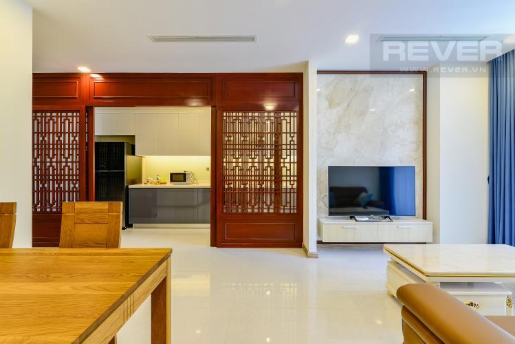 Phòng Khách & Bếp Căn hộ Vinhomes Central Park 3 phòng ngủ tầng cao P3 đầy đủ tiện nghi