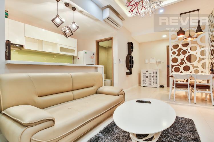 Phòng Khách Căn hộ Lexington 1 phòng ngủ tầng trung LC thiết kế đẹp, sang trọng