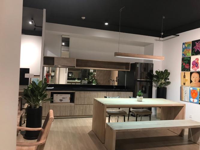 Phòng bếp , Căn hộ Palm Heights , Quận 2 Căn hộ Palm Heights tầng 9 nội thất gỗ hiện đại đầy đủ, thiết kế sang trọng.