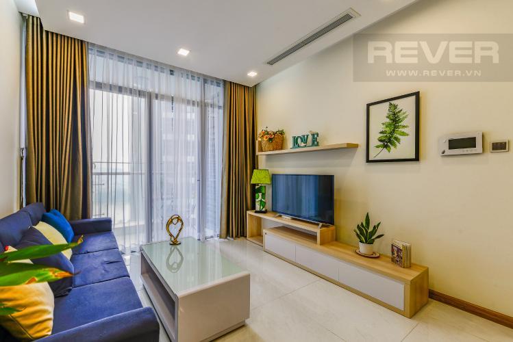 Phòng khách Cho thuê căn hộ Vinhomes Central Park 2PN đầy đủ nội thất