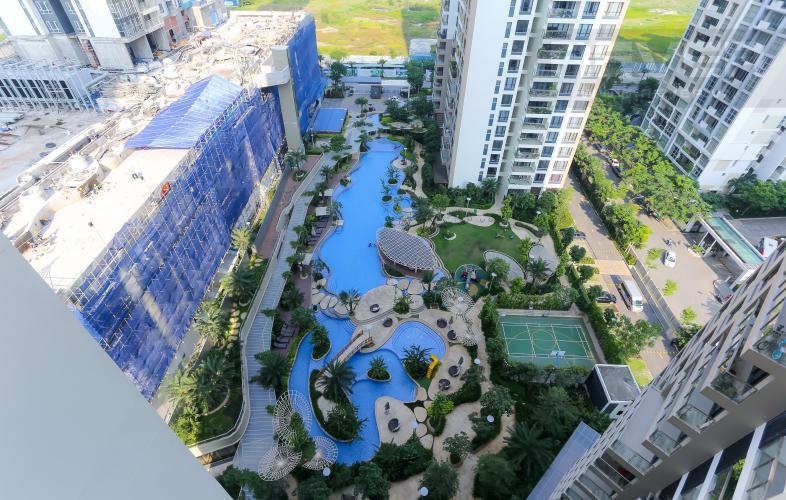 View Cho thuê căn hộ Estella Heights 2PN tầng cao view hồ bơi