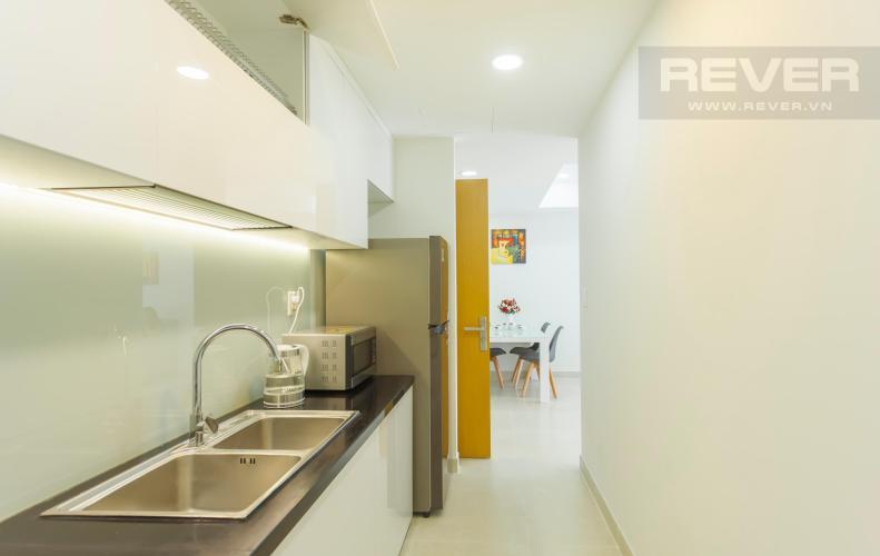 Không gian nhà bếp khá rộng rãi Căn hộ Masteri Thảo Điền 2 phòng ngủ tầng trung T3 nội thất đầy đủ