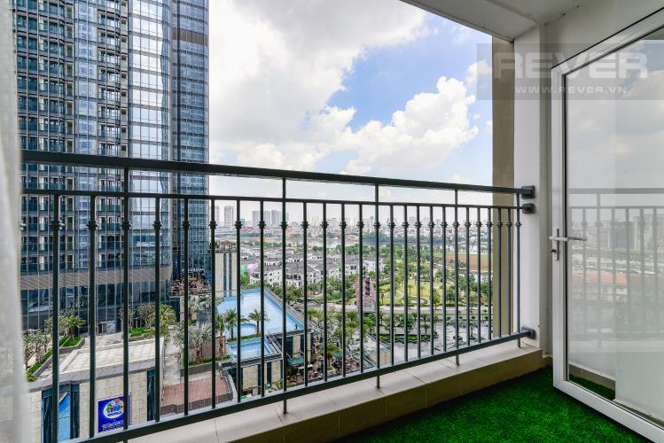 View Balcony Căn hộ Vinhomes Central Park tầng trung 3PN đầy đủ nội thất, view sông
