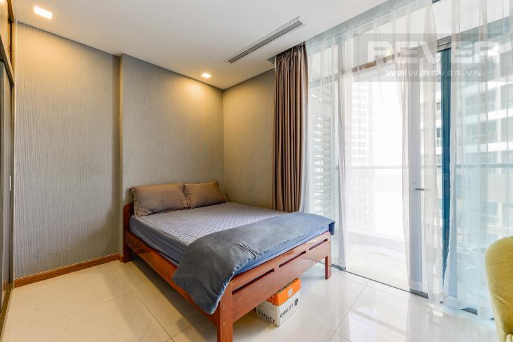 Phòng ngủ bán và cho thuê căn hộ Vinhomes Central Park tầng cao, 1PN, đầy đủ nội thất
