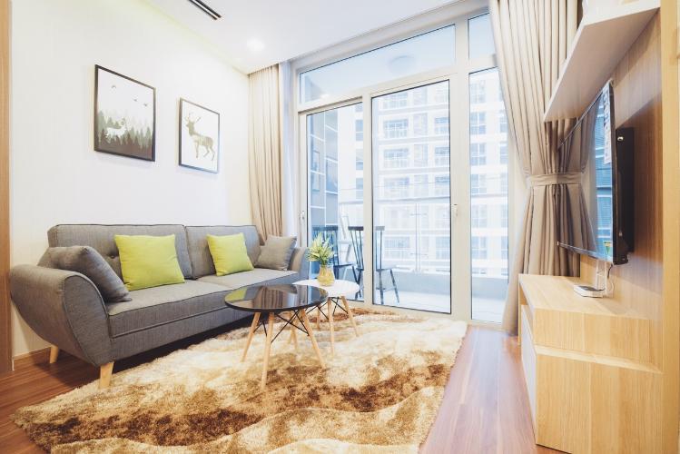 Phòng khách căn hộ Vinhomes Central Park Bán căn hộ Vinhomes Central Park 2PN, tháp The Central 3, diện tích 76m2, đầy đủ nội thất