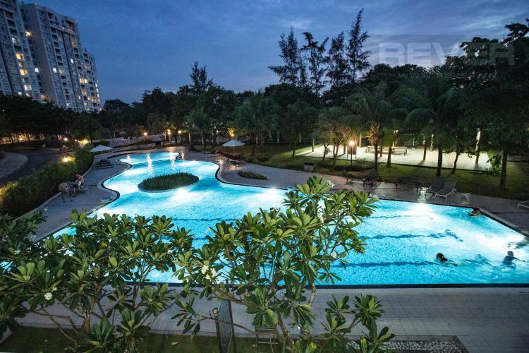 Hồ Bơi Cho thuê căn hộ Riverside Residence, tầng thấp, đầy đủ nội thất, hướng Đông đón gió