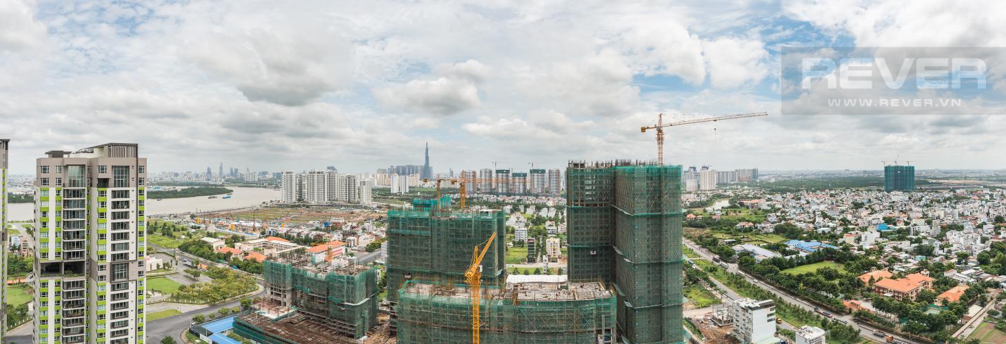 View Căn hộ Vista Verde tầng cao tháp T1, 3 phòng ngủ, nội thất cơ bản, view sông