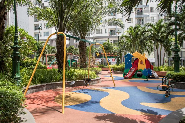 Công Viên Nội Khu Bán căn hộ Him Lam Riverside 3PN, tháp 1, nội thất cơ bản, view công viên và hồ bơi