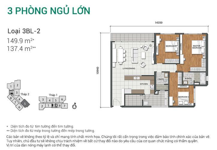 Căn hộ 3 phòng ngủ Căn góc Estella Heights 3 phòng ngủ tầng cao T2 view nội khu