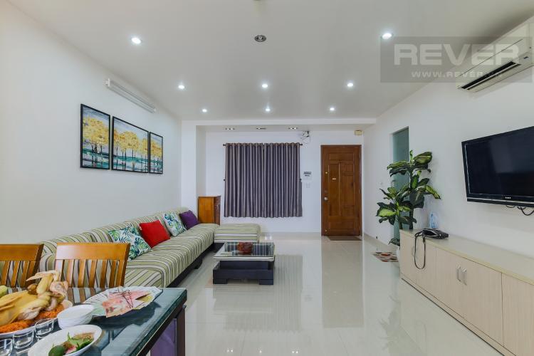 Phòng Khách Cho thuê chung cư H2 Hoàng Diệu 2PN, diện tích 87m2, đầy đủ nội thất, view cảnh thành phố