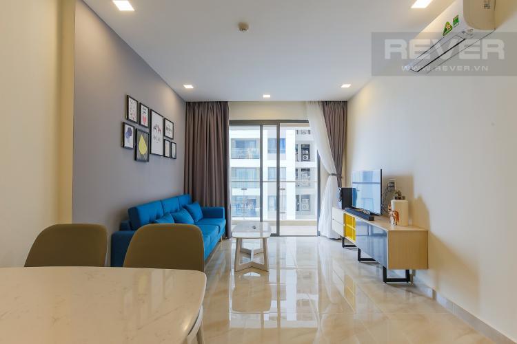 Phòng Khách Căn hộ The Gold View 2 phòng ngủ tầng thấp A2 hướng Tây Nam