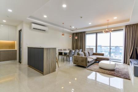 Cho thuê căn hộ Masteri Millennium tầng cao, 3PN, nội thất đầy đủ