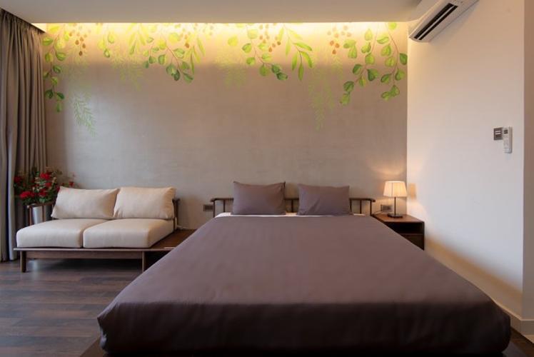 Phòng ngủ Saigon Royal Căn hộ Saigon Royal đầy đủ tiện nghi, ban công hướng Đông Nam.