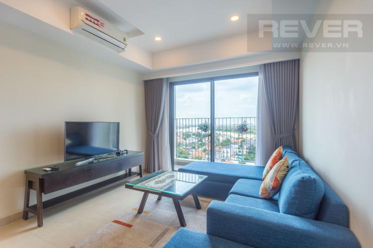 Phòng Khách Bán căn hộ Masteri Thảo Điền tầng trung, 2PN, đầy đủ nội thất