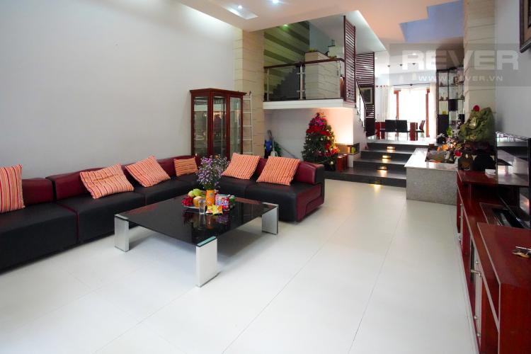 Phòng Khách Cho thuê nhà phố 4 tầng đường 19, Q2, đầy đủ nội thất, view Landmark 81