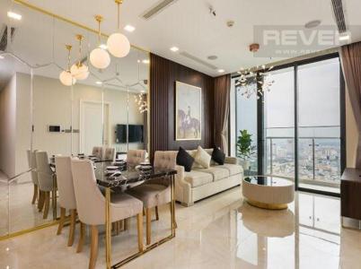 Cho thuê căn hộ Vinhomes Golden River 2PN, tầng cao, tháp The Aqua 2, đầy đủ nội thất, view sông và tháp Landmark 81