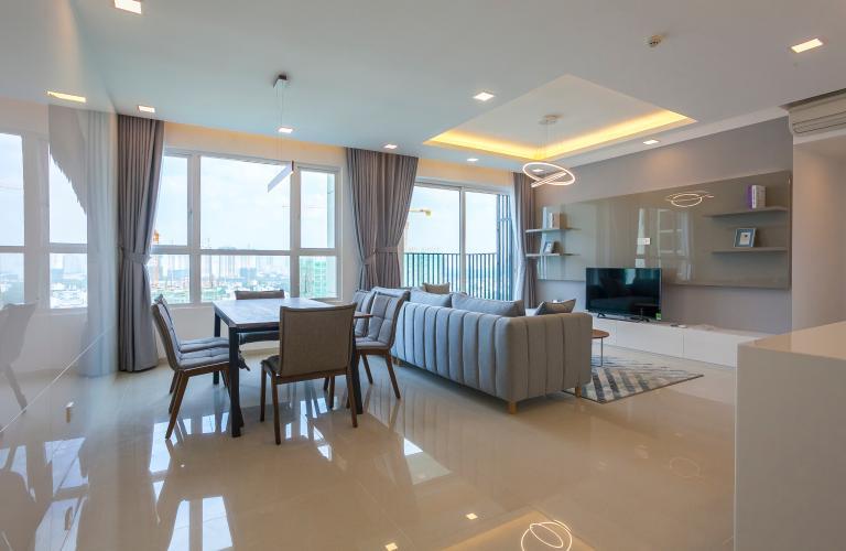 Tổng Quan Căn góc Vista Verde 3 phòng ngủ tầng trung T2 đầy đủ nội thất