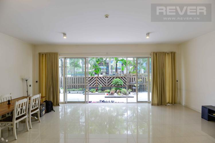 Phòng Khách Bán hoặc cho thuê căn hộ sân vườn Estella Residence 3PN, có 2 cửa, diện tích 171m2, nội thất cơ bản