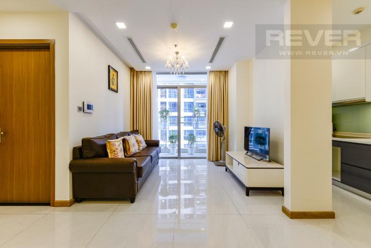 Phòng khách Căn hộ Vinhomes Central Park 3 phòng ngủ tầng thấp P3 nội thất đầy đủ