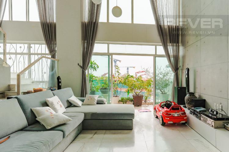 Phòng Khách Căn hộ Duplex New Sài Gòn tầng cao tháp D1, 4 phòng ngủ, full nội thất