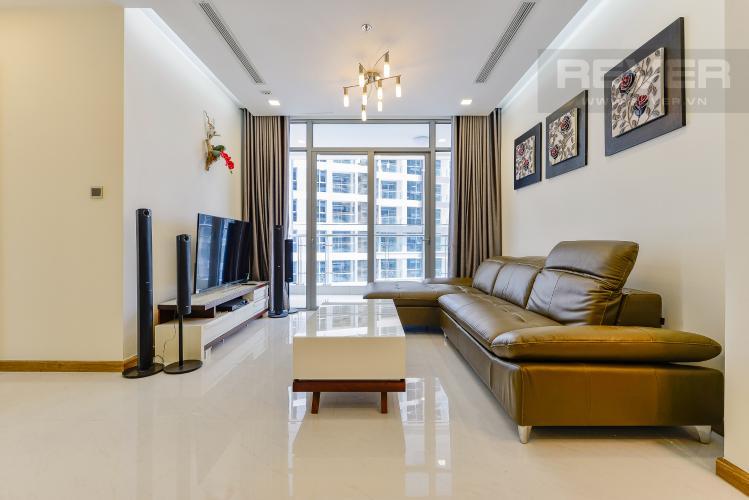 phòng khách Căn góc Vinhomes Central Park tầng trung Park 2 đầy đủ nội thất