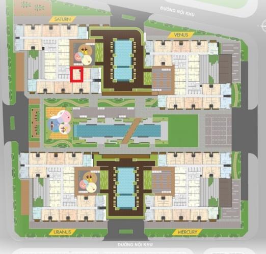 layout tổng quan  Căn hộ Q7 Saigon Riverisde tầng cao, nội thất cơ bản.