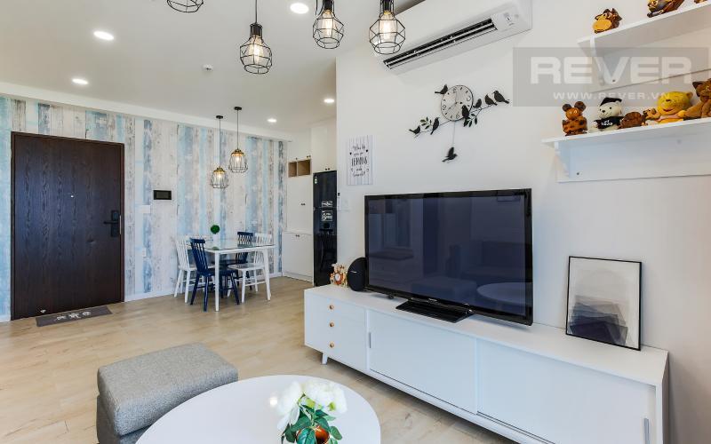 Phòng Khách Căn hộ Happy Residence 2 phòng ngủ tầng trung tháp B nội thất đầy đủ