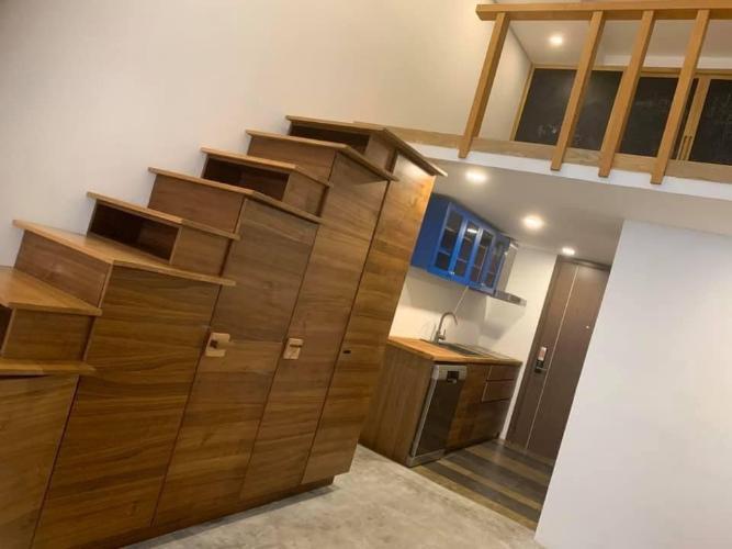 Cầu thang - Bếp - Gác căn hộ LEXINGTON RESIDENCE Bán căn hộ officetel Lexington Residence 1 phòng ngủ, nội thất độc đáo, có gác lửng