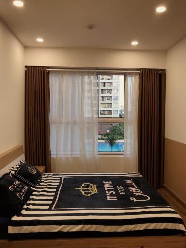 phòng ngủ chính Sunrise Riverside Cho thuê căn hộ 2 phòng ngủ đầy đủ nội thất Sunrise Riverside