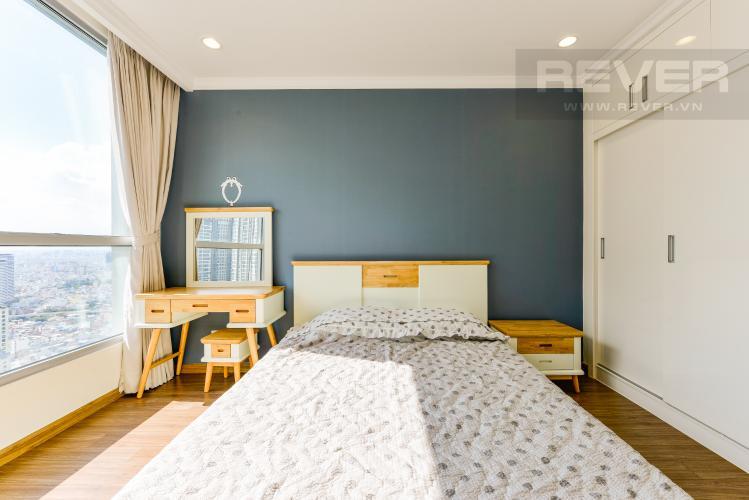 Phòng ngủ 1 Căn hộ Vinhomes Central Park tầng cao 2PN thiết kế đẹp, nội thất đầy đủ