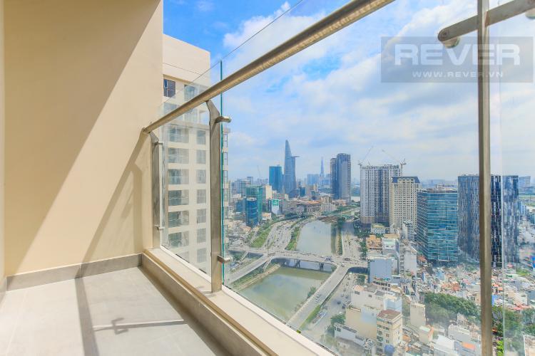 Balcony Bán căn hộ Masteri Millennium tầng cao, 2PN, view đẹp