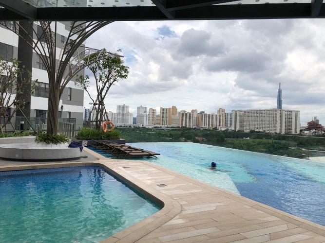 view cảnh căn hộ The Sun Căn hộ Officetel The Sun Avenue nội thất cơ bản, view nội khu.