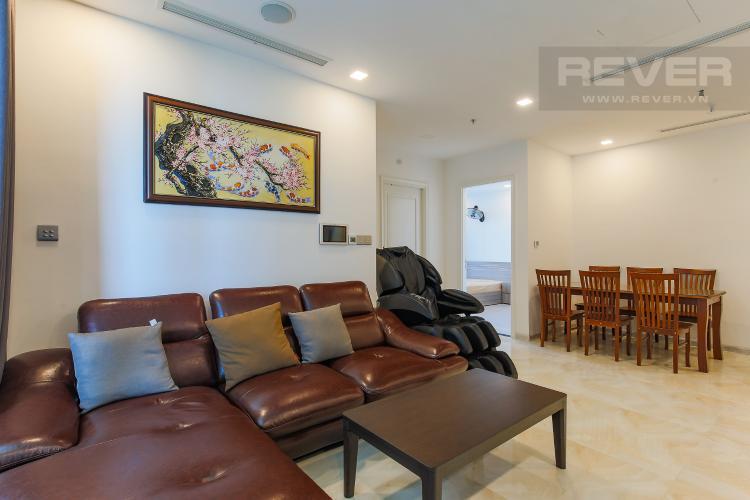 Phòng Khách Căn hộ Vinhomes Golden River tầng thấp, 3PN, nội thất đầy đủ