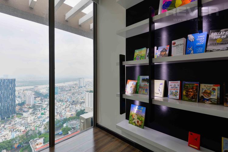 Phòng Thư Giãn Bán penthouse Masteri Millennium 3PN, diện tích 222m2, đầy đủ nội thất, view sông và Bitexco