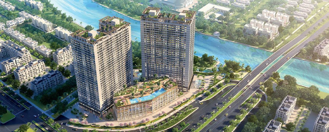 Bán căn hộ Lavida Plus tầng cao, 2 phòng ngủ, diện tích 74.24m2, không có nội thất.