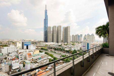 Căn hộ Pearl Plaza tầng cao, view thành phố.