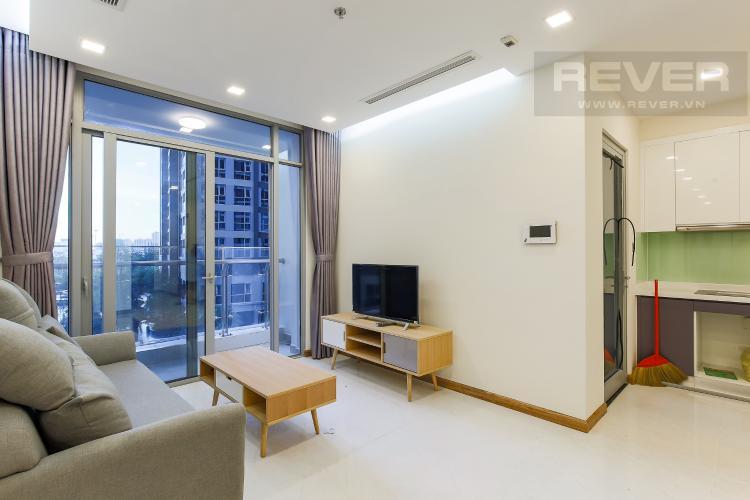 Phòng Khách Căn hộ Vinhomes Central Park 3 phòng ngủ tầng thấp P7 view hồ bơi