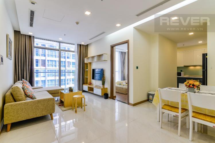 Tổng Quan Căn hộ Vinhomes Central Park 2 phòng ngủ tầng cao P4 nội thất đầy đủ