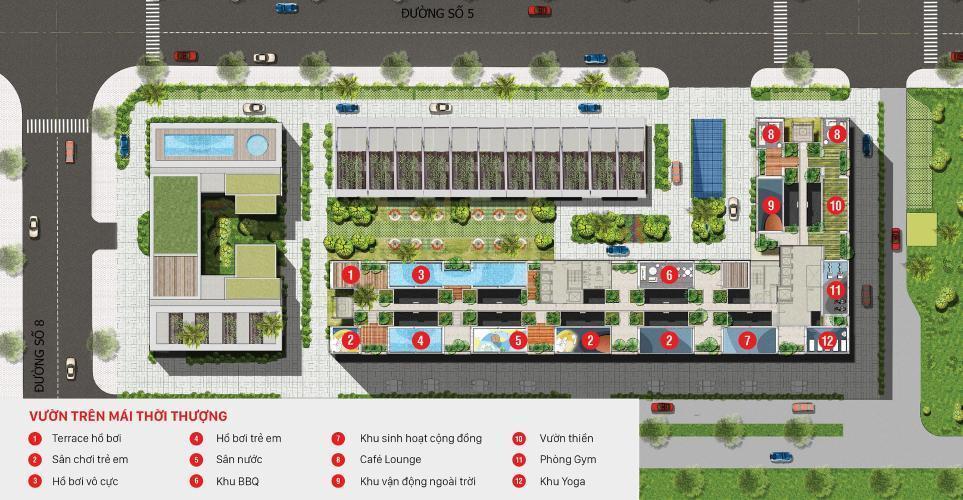 Toàn cảnh City Grand Quận 2 Căn hộ Citi Grand 2 phòng ngủ, nội thất cơ bản.