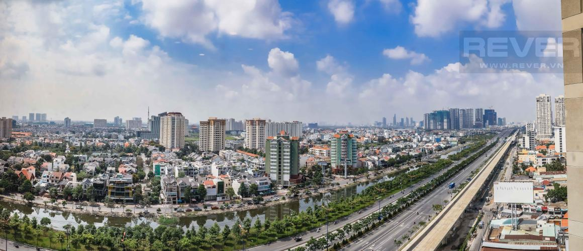 View Panorama Căn góc hướng Tây Nam tầng cao T1B Masteri Thảo Điền