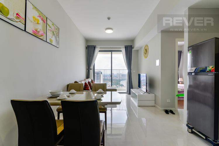 Phòng Khách Cho thuê căn hộ Masteri An Phú 2PN, tầng cao, đầy đủ nội thất, view sông thoáng đãng