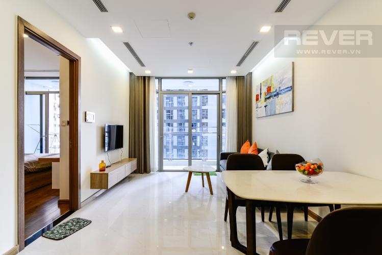 Phòng Khách Căn hộ Vinhomes Central Park 1 phòng ngủ tầng trung P7 view hồ bơi