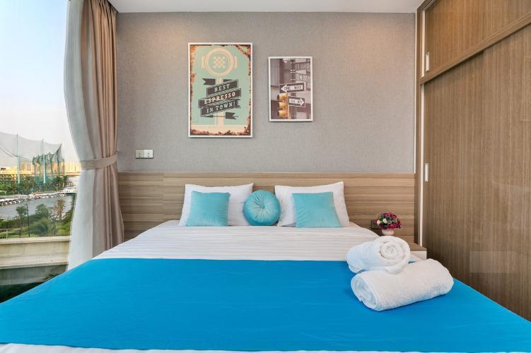 Phòng ngủ Vinhomes Golden River, Quận 1 Căn hộ Vinhomes Golden River view thoáng mát, nội thất tiện nghi.